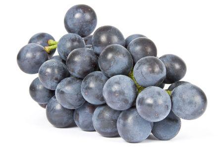 Paars Druiven Geïsoleerd op wit Stockfoto