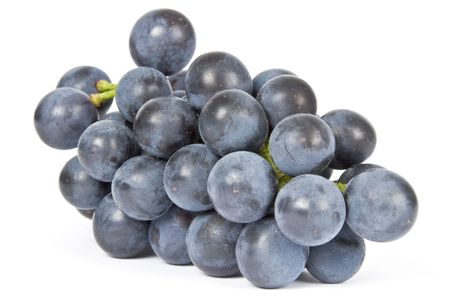 Purple Grapes Isolated on White Stock Photo
