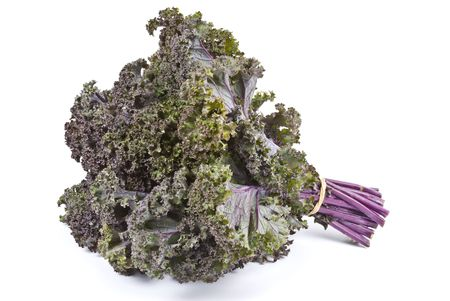 Purple Kale Isolated on White