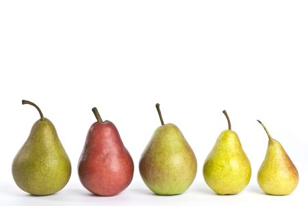 Row of Assorted Pears photo