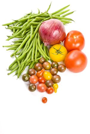 Vegetables Isolated on White photo