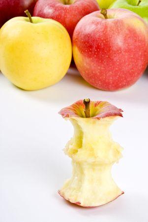 Royal Gala Apple Core Stok Fotoğraf