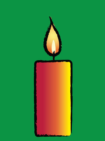 ambience: Christmas Candle Illustration