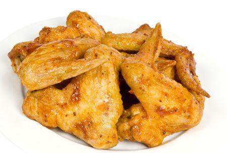 alitas de pollo: Alas de pollo cocidas