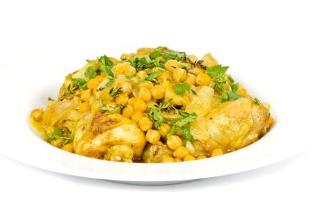 Chicken with Chickpeas and Parsley photo
