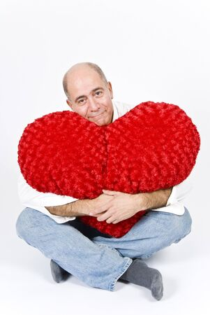 Latin Man with a Red Heart photo