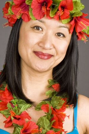 fake smile: Hawaiian Girl