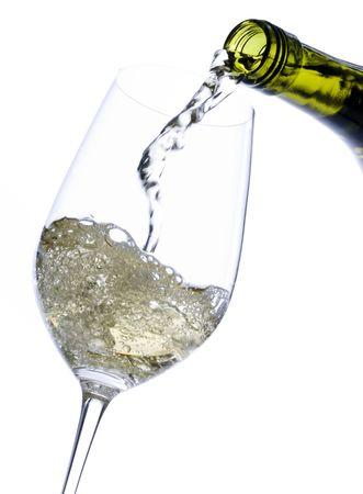 Pouring White Wine Banco de Imagens
