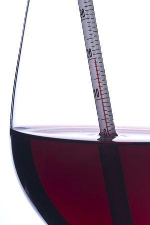 celsius: Measuring Red Wine Temperature with a Thermometer (Celsius)