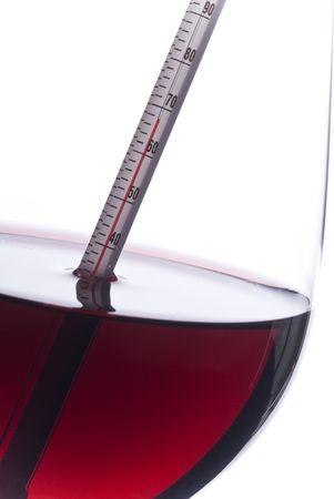 fahrenheit: Vino Tinto de medici�n de temperatura con un term�metro (grados Fahrenheit)