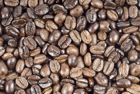 Coffee Beans Isolated on White Stok Fotoğraf