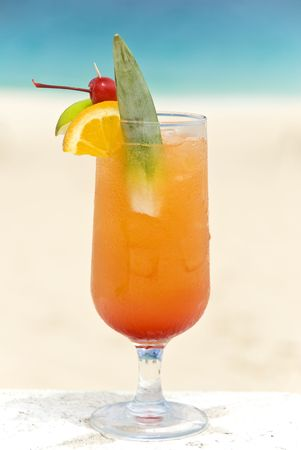 Tropical Cocktail on the Beach photo