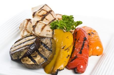구운 닭 가슴살과 야채