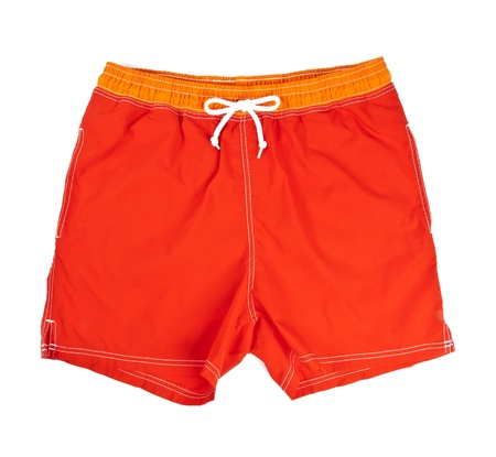 Mans Swim Trunks Isolated on White Banco de Imagens