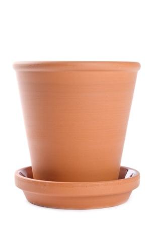 Clay Pot geïsoleerd op wit Stockfoto - 9733196