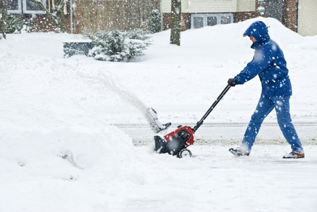Man Removing Snow