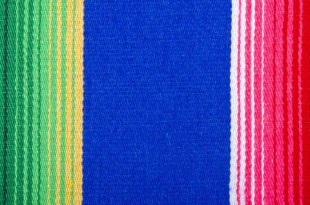 stripes: Colorful Mexican Cotton Rug Closeup
