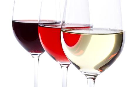 화이트 절연 세 와인 안경