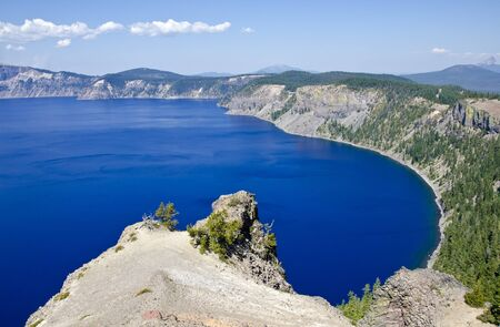 crater lake: Crater Lake National Park Stock Photo