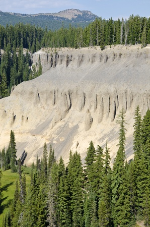 crater lake: Fossil Fumaroles of Annie Creek, Crater Lake Stock Photo