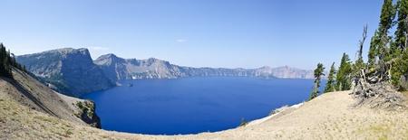 crater lake: Panorama of Crater Lake  Stock Photo