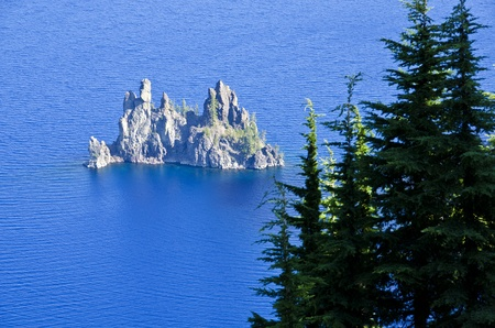crater lake: Phantom Island Crater Lake