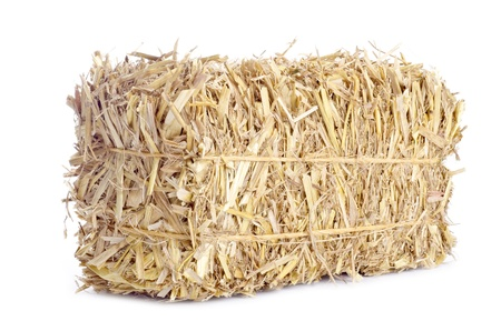 Small Bale of Hay Isolated on White