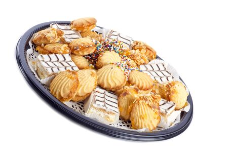 plateful: Plate of Assortment of Colorful Cookies