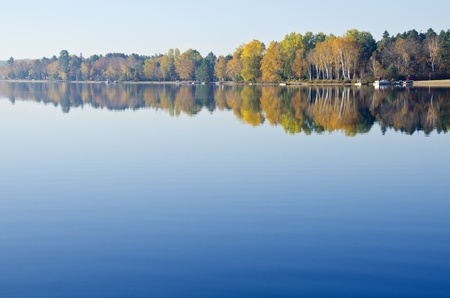 Reflection of Fall Colors in a Lake Stock Photo - 10876727