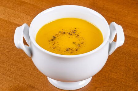 Bowl of Carrot Soup Stock fotó