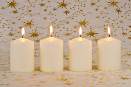 Christmas Candles Banco de Imagens
