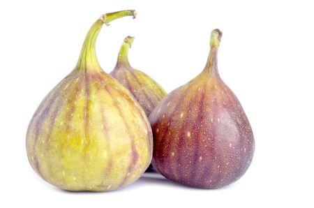 Fresh Figs Isolated on White Stock Photo