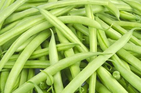 프랑스 녹색 콩의 근접 촬영