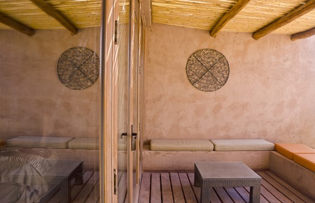 Patio of a Adobe House