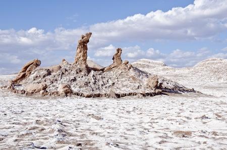 달 아타 카마 사막 칠레의 계곡에서 세 마리아