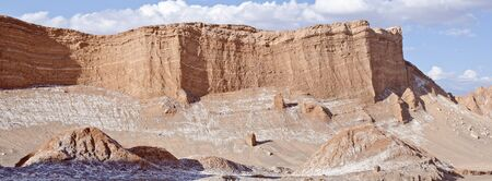 Panorama of the Valley of the Moon Atacama Desert Chile photo
