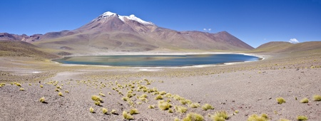 Panorama of Minisques Lagoon Altiplano Chile photo