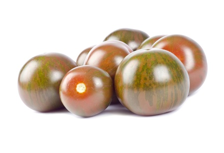 ゼブラ チェリー トマト 写真素材
