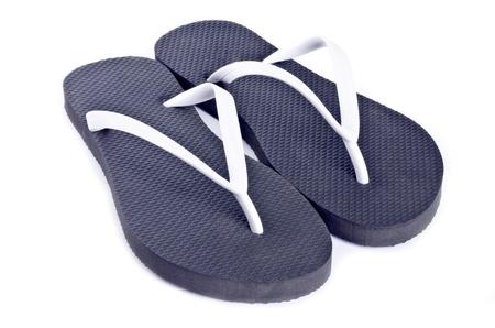 flops: Flip Flops on White Background Stock Photo