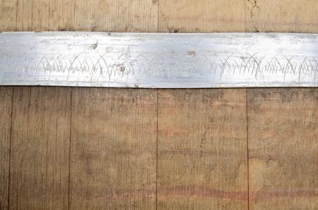 Closeup of an Oak Wine Barrel