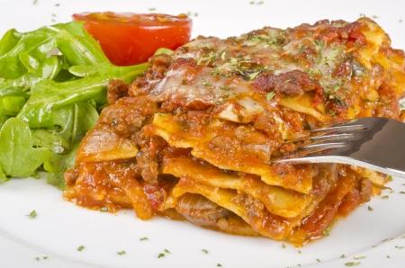 Meat Lasagna Closeup Stock Photo - 16669982