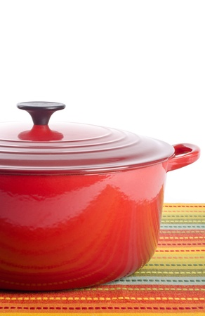 Red Dutch Oven 스톡 콘텐츠