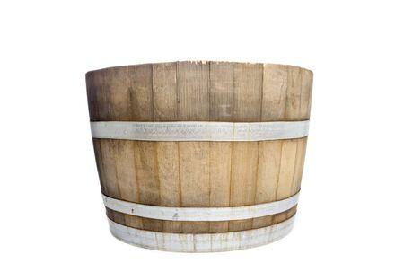 Wine Barrel Isolated on White