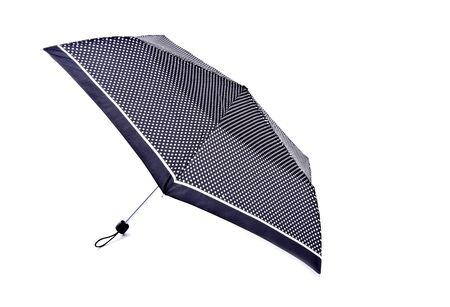 Black Umbrella with White Polka Dots Isolated