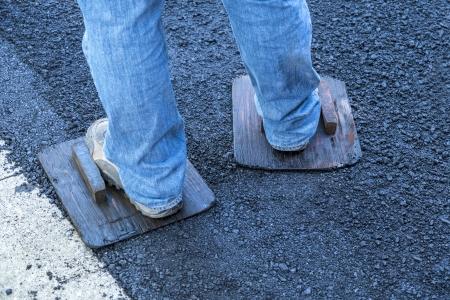 Paving a Driveway with Asphalt