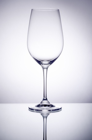snoot: Empty Wine Glass Stock Photo