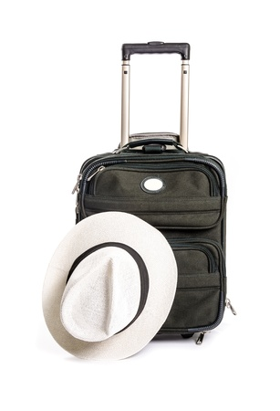 greem: Small Greem Travel Bag with Handle Isolated on White