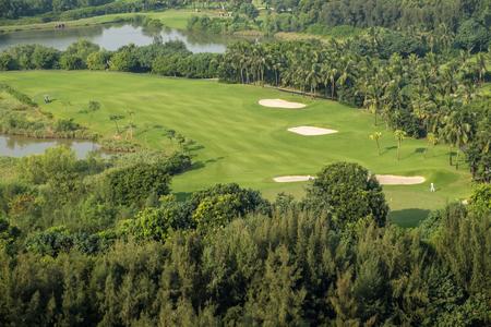 bird 's eye view: Bird s Eye View of a Golf Course