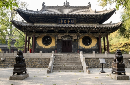 chinese temple: Jinci Temple in Shanxi China  Stock Photo