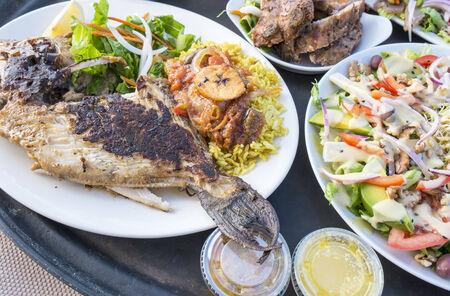 trigger fish: Trigger Fish, Ribs and Salad